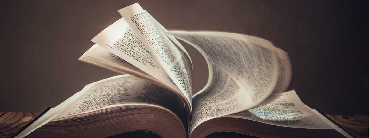 Wind Turning Pages of the Bible
