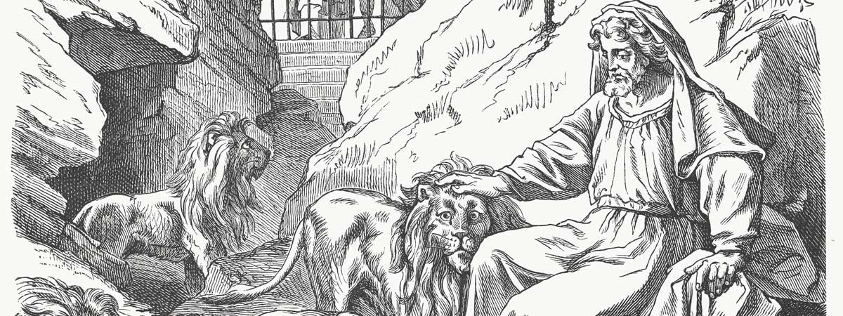 Daniel in the Lion's Den, God Provides Protection