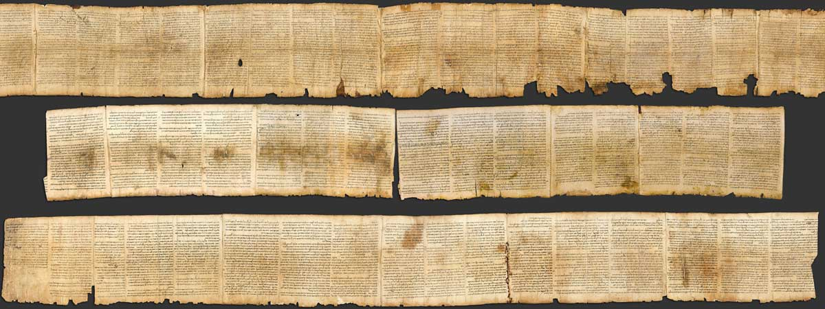Ancient Isaiah Scroll, One of the Seven Dead Sea Scrolls